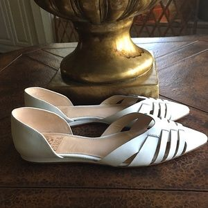 VINCE CAMUTO Woven Leather d'Orsay Flat